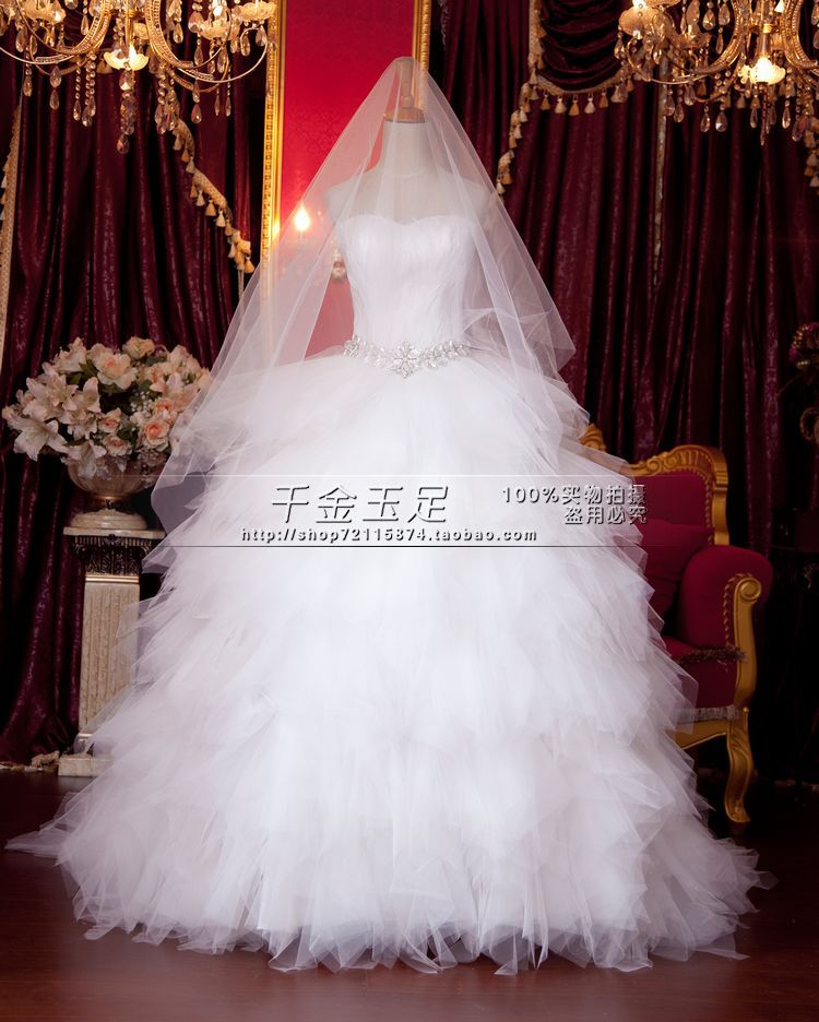 Free Shipping 2016 New Arrival Vestidos De Festa Long Elegant Unique Wedding Dresses With Crystal And Feathers Bridal Bown