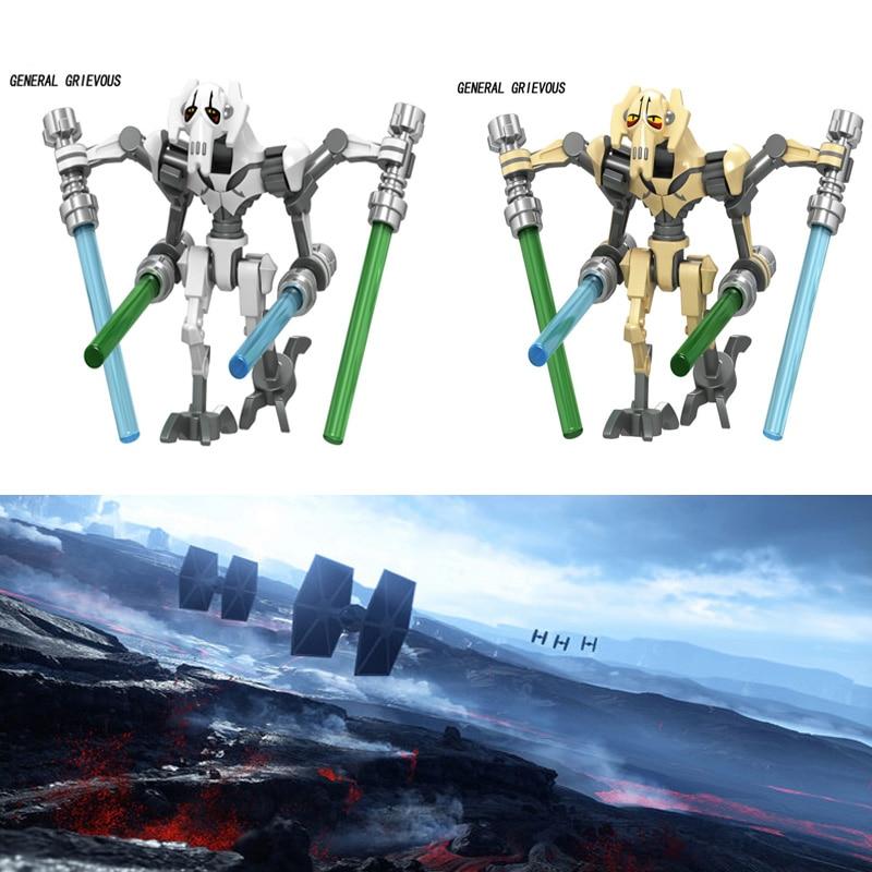Star Wars Movie Building Blocks Figures General Battle Robot Model Bricks Toys For Children Compatible With Legoed Ninjiaed