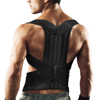 Adjustable Posture Corrector Back Support Shoulder Lumbar Brace Support Corset Back Belt for Men