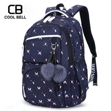 Cute Women Printing Backpack School Bags For Teenage Girls Korean Style School Backpack For Girls Fur Ball Decoration Bag Gift цена 2017