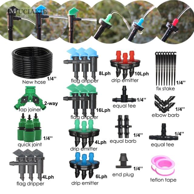 MUCIAKIE système dirrigation goutte à goutte   De 50M kit de Dripper émetteur de drapeau, 4L 6L, kit de plantes de jardinage, outils, Micro ensemble de gouttes