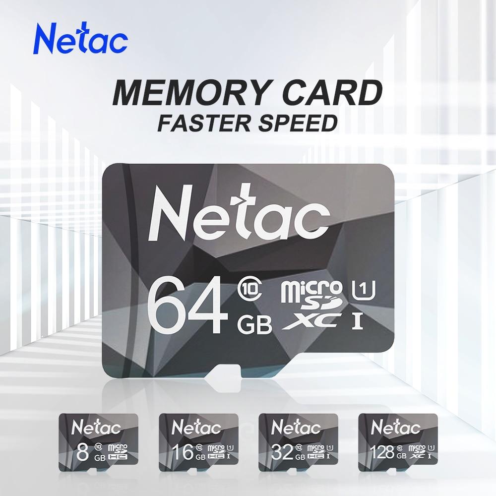 Micro SD карта памяти Netac, класс 10, 8 ГБ, 16 ГБ, 32 ГБ, 64 ГБ, 128 ГБ