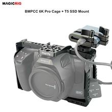 Magicrigbmpcc 6K برو قفص مع T5 SSD جبل فقط ل Blackmagic تصميم جيب سينما كاميرا 6K برو كاميرا