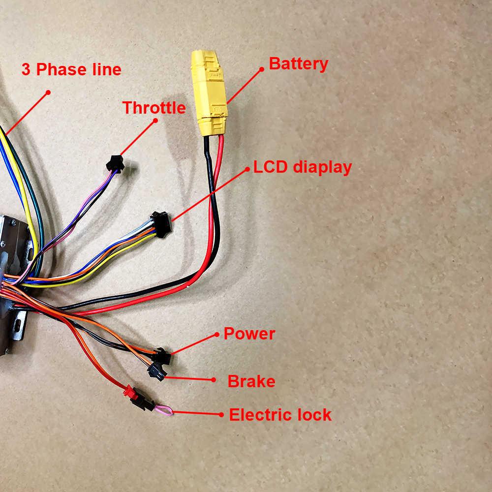 10 pouces 30-65KM 48V500W800W1000W Double moteur de moyeu d'entraînement et contrôleur vélo électrique KitScooter roue moteur Brushless Bicicleta
