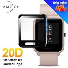 Amzish-protector de pantalla de vidrio templado para móvil, Accesorios inteligentes para Huami Amazfit Bip S, 20D