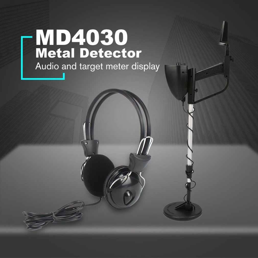 MD4030 ручной подземный металлоискатель Pinpointers портативный Охотник за сокровищами золотоискатель с наушниками