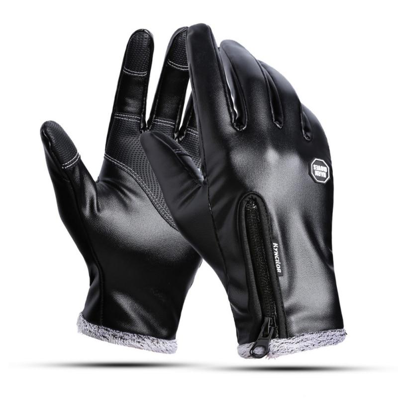 Winter Outdoor Men Ski Gloves Women Waterproof Touch Screen Windproof Warm Riding Plus Velvet Black Gloves
