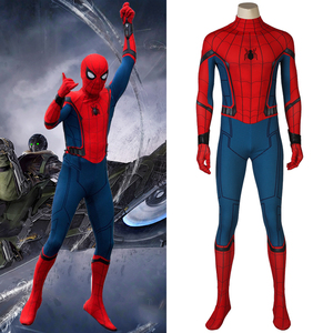 Spider-Man Homecoming Cosplay Peter Benjamin Parker Costume Jumpsuit Zentai Bodysuit Adult Men Halloween Party Outfit(China)