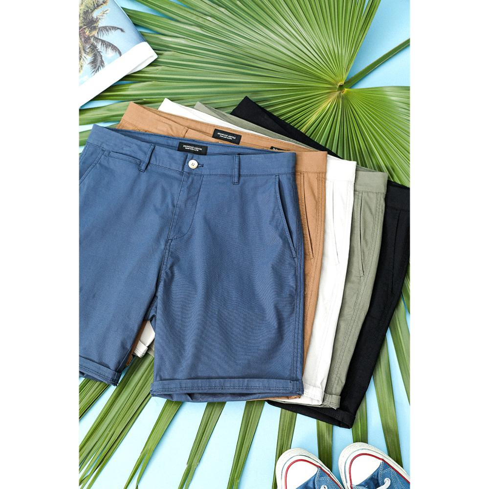 SIMWOOD 2020 Summer New  Enzyme Washed Shorts Men Classical Knee Length Solid Color Pants High Quality Plus Size Shorts SJ130359