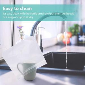 10Pcs PEVA Silicone Food Storage Bag Reusable Freezer Bag Ziplock Leakproof Top Fruits Lunch Box