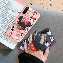 Cute Silicone Holder stand Cover Case for Samsung galaxy