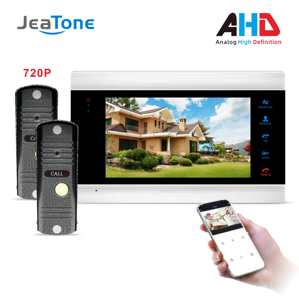 Tuya Smart Home App Remote Control WiFi 7 Inch Video Door Phone Intercom Access Control Motion Detection With 1.0MP AHD Doorbell