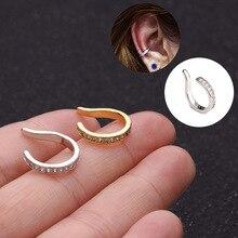 1pc Adjustable Cz Cartilage Ear Cuff Ear
