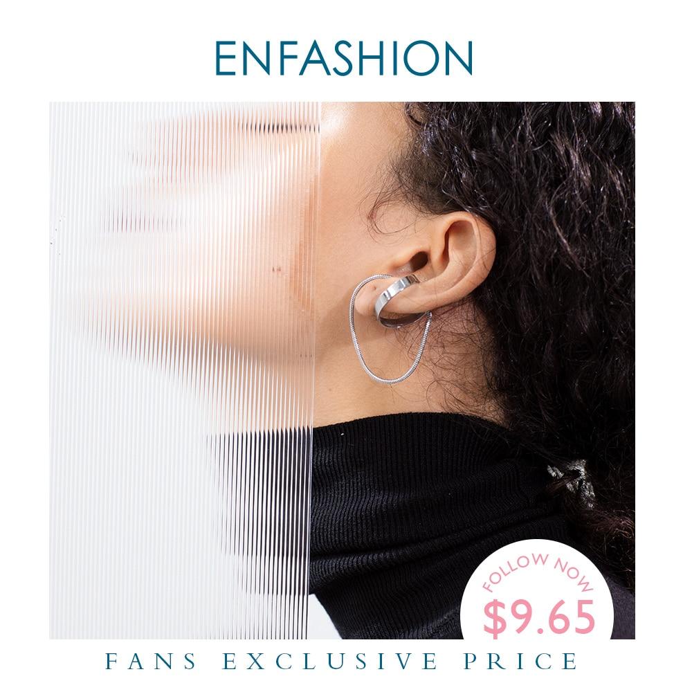 Купить enfashion круг кисточкой кафф серьги клипсы для женщин золотой