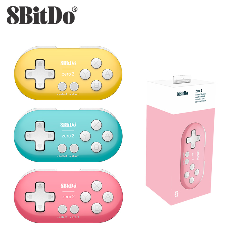 8BitDo Zero 2 Bluetooth Gamepad Switch Controller Compatible for Nintend Switch Windows Android macOS Mini Game Crontroller