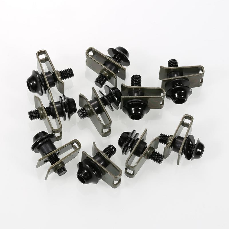 10pcs/set Motorcycle M5 5mm Fairing Bolts Fastener Clips Screw Nuts Motorcycle Replacement Parts