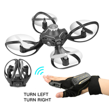 W606-16 Mini Ufo Rc Drone Gloves Control Helicopter Wifi FPV 480P Camera Quadcopter drones Remote control Toys Plane Kids Gift