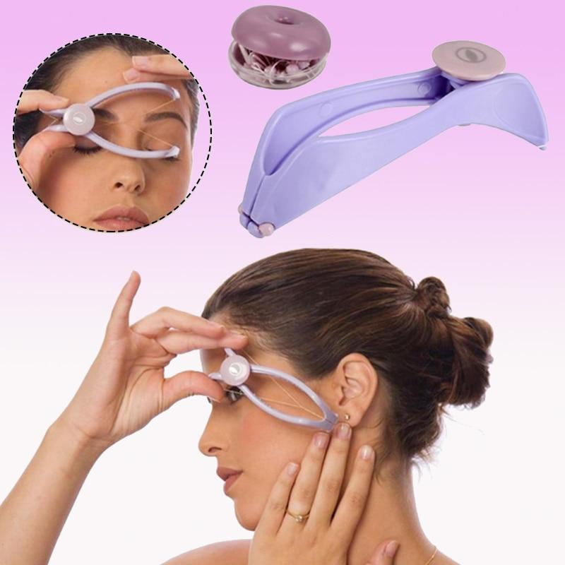 Plastic Facial Hair Removal Epilator Manual Threading Body Neck Upper Lip Beauty Tool No Pain Hair Remover Gift 12x3.5x3.5cm