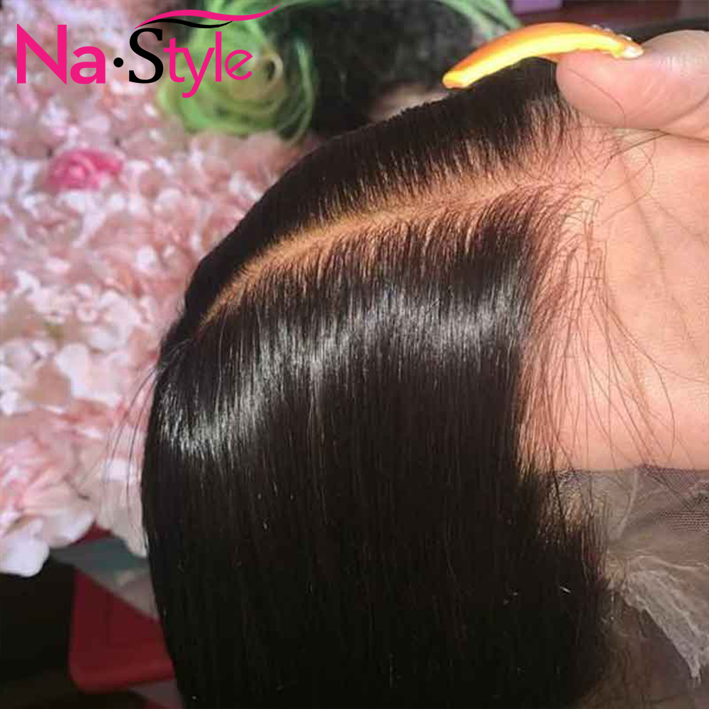 Pre Plucked Full Lace Human Hair Wigs Pre Plucked Bleached Knots Wigs Transparent Lace Wigs Straight Glueless Full Lace Wigs 150