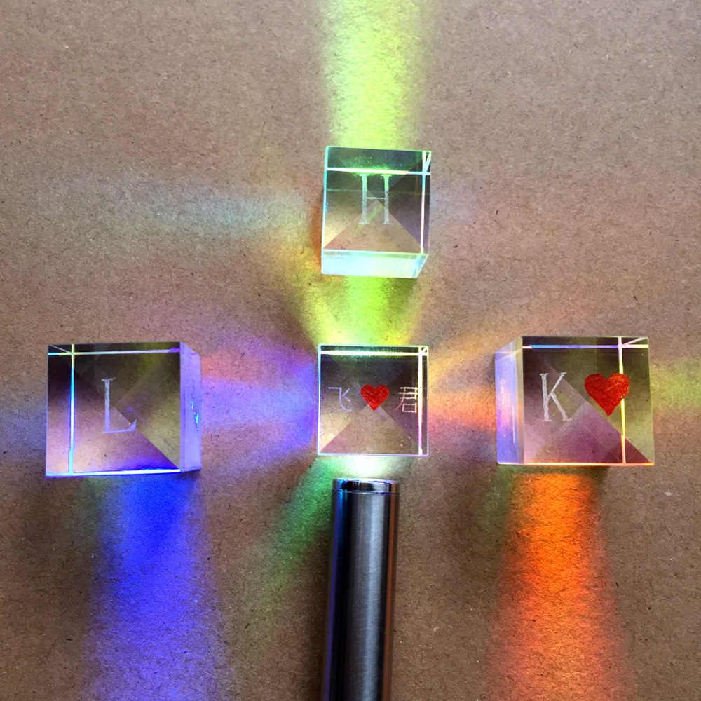 Combiner сплиттер крестообразная дихроичная куб RGB Призма Оптическое стекло треугольная призма для обучения световому спектру физики оптом