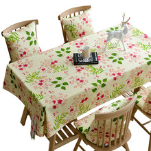 Hot Sale New Rectangular Cotton Tablecloth Household High-end Floral Kitchen Tablecloth Art Coffee Tea Table Cover