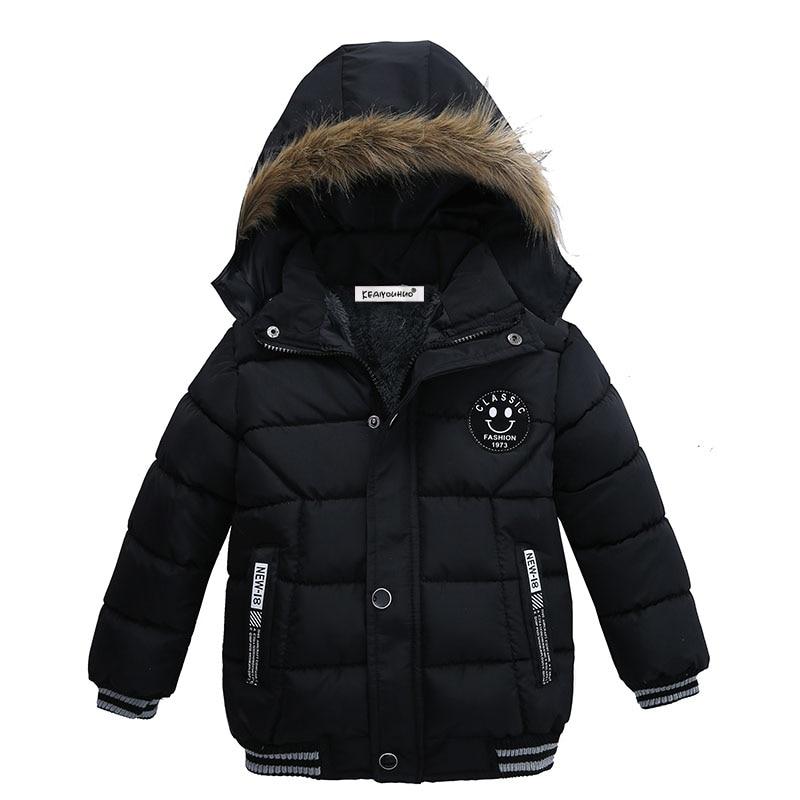 Коллекция 2019 года, зимние пальто для мальчиков Модное пальто с капюшоном для детей Куртки для маленьких мальчиков теплая детская куртка Вер...