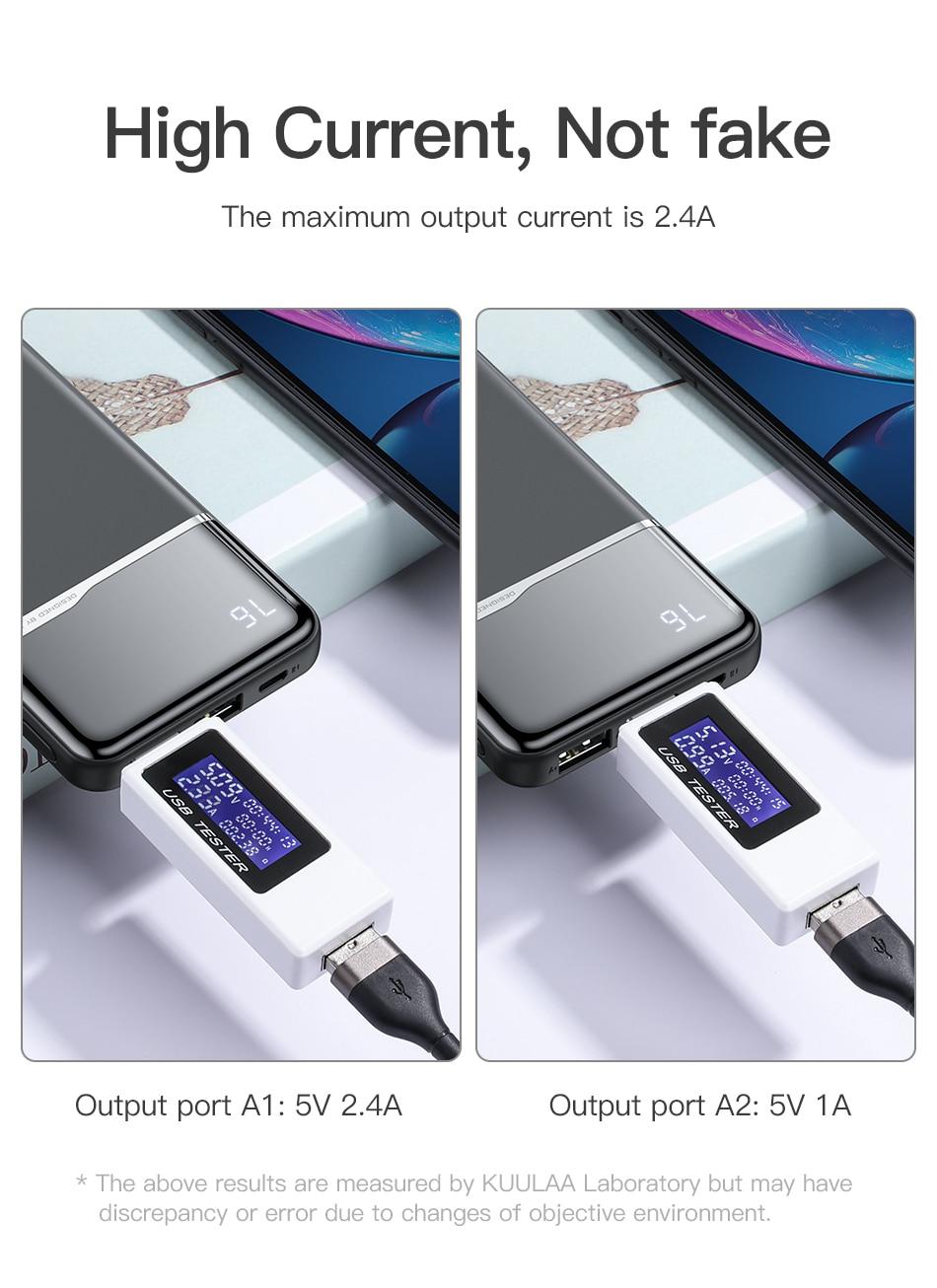 Batterie externe 10000 mAh chargeur portatif  9 8 iPhone
