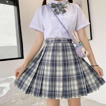 Japanese School Uniforms Plaid Skirts Girl\'s Dresses JK Suits Bowknot Shirt Female Sailor Costumes Dress Clothes for Women