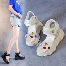 Increased sandals female 2020 summer new fashion wild sports casual sandals thick bottom muffin sandals Z922 sandals female 2020 summer new fashion wild sports casual sandals increased thick bottom muffin sandals z922