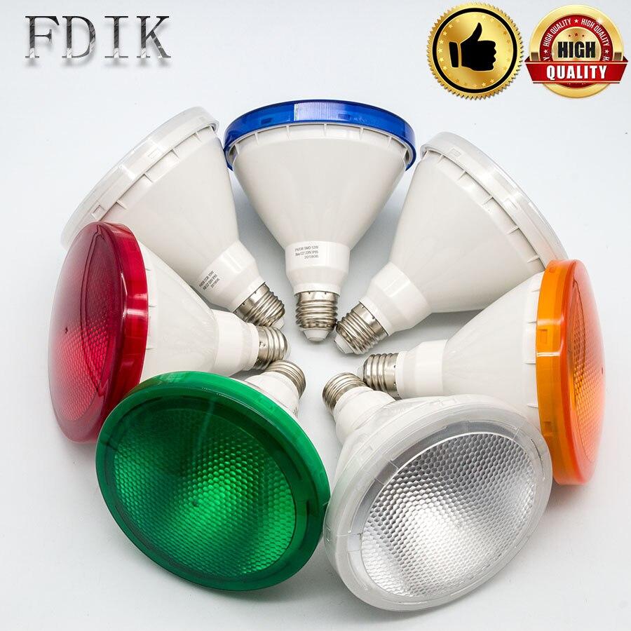 LED PAR38 12W Spotlight Lamp Bulb Waterproof IP65 E27 LED Bulbs RGB Outdoor Waterproof IP65 Refletor Spot Light Lamps High Power