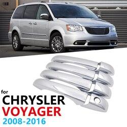 Chrome alças capa guarnição para chrysler cidade e país voyager 2008 ~ 2016 acessórios do carro adesivos de estilo automático 2009 2010 2011
