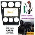2DIN 1Din Автомобильный DVD рамка аудио фитинг адаптер тире обшивки наборы Facia панель 9 дюймов для Mazda6 2004-2015 двойной Din радио плеер
