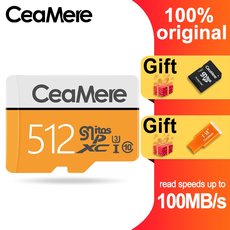 Image 4 - CeaMere Micro SD Card 256GB/128GB/64GB UHS 3 32GB/16GB/8GB Class 10 UHS 1 4GB Memory Card Flash Memory Microsd Free Crad Reader-in Memory Cards from Computer & Office