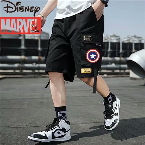 Marvel Iron Man summer overalls men's shorts thin five-point pants young students boy trend wild