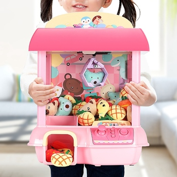 Electronic Kids Claw Machine Catch Doll DIY Mini House Coin Operated Catcher Vending Gift For Children Toys