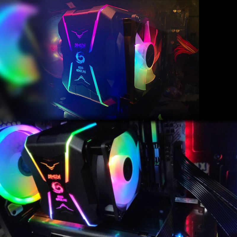 Grote Muur Cpu Koeler Argb 90Mm Fan Cooling Radiator Voor Intel Lga 1150 1151 1155 1156 775 Amd AM3 AM4 Koeler Rgb Cpu Cooling