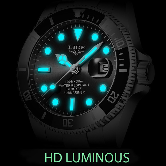 2021 new lige mens watches fashion