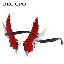 Oec cpo УНИКАЛЬНЫЕ Солнцезащитные очки без оправы с крыльями
