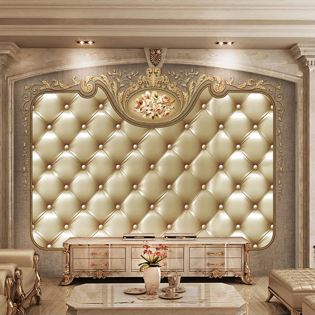 Best Price 25c9b Custom 3d Photo Wallpaper For Bedroom Walls Mural European Style Soft Bag Luxury Living Room Tv Background Decor Wall Painting Cicig Co