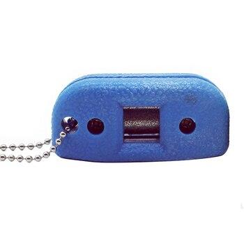 Cuchillo para hielo, afilador con diseño de cuchillo, cuchillo de bola, afilador de patines, afilador de diamante con borde ajustable, azul