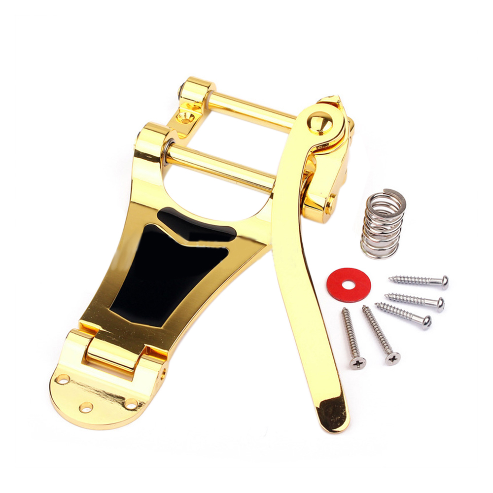 Gold LargeTremolo Vibrato Bridge Tailpiece Hollow Body Archtop Electric Guitar