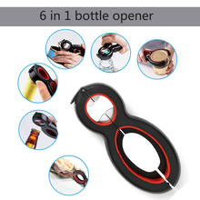 6 in 1 Multifunctional Bottle Opener All One Jar Gripper Can Wine Beer Lid Twist Off Claw