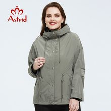 Outerwear Spring-Coat AS-9417 High-Quality Fashion Jacket Hood Short-Style Plus-Size