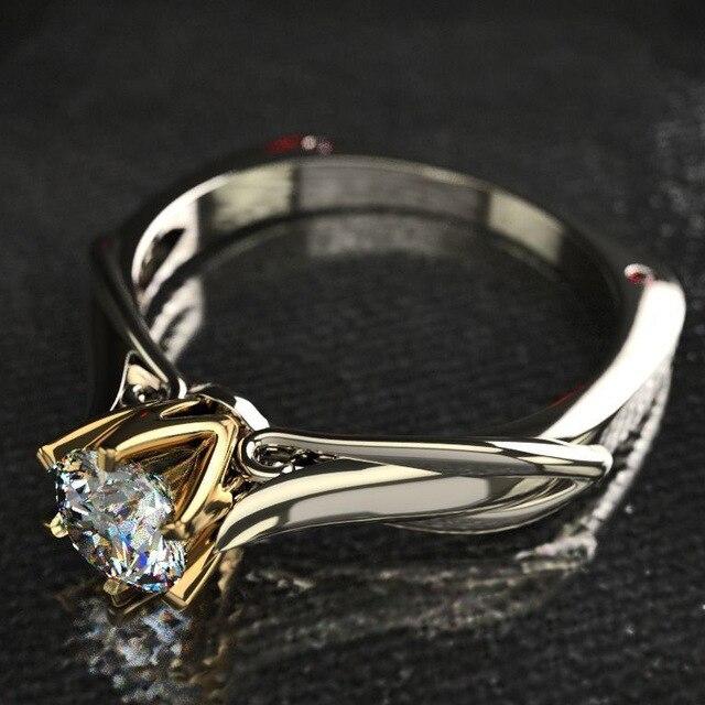 18K Multi Gold Ring for Women Natural 1 Carat Diamond with Diamond Jewelry Anillos De Bizuteria Anillos Mujer Gemstone Rings Box 4