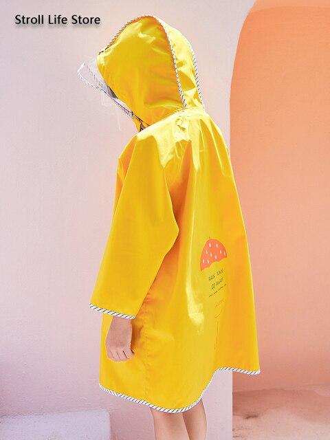 Long Rain Coat Women Boys and Girls Yellow Baby Raincoat Poncho Rain Jacket Windbreaker Waterproof Suit Impermeable Gift Ideas 4