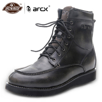 ARCX Men Motorcycle Boots Waterproof Moto Boots Motocross Boots Vintage Motorcycle Outdoor Travel Shoe For Four Season