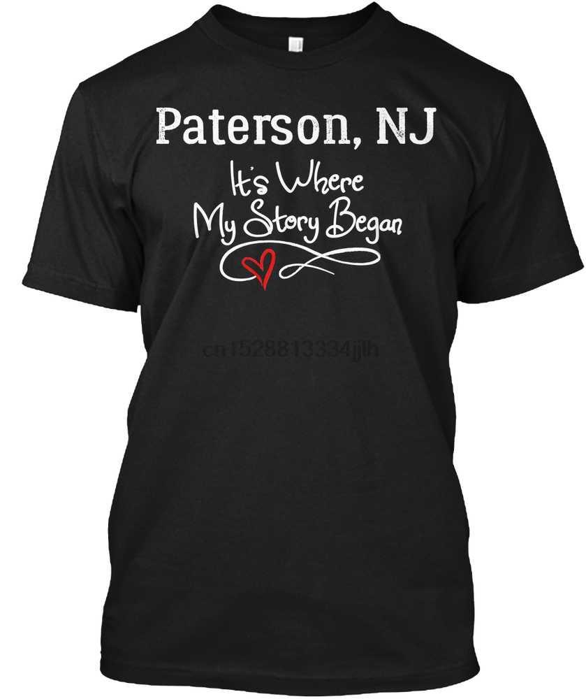Erkekler T gömlek hediye Paterson NJ Birthplace doğan ve yükseltilmiş kadın T-Shirt