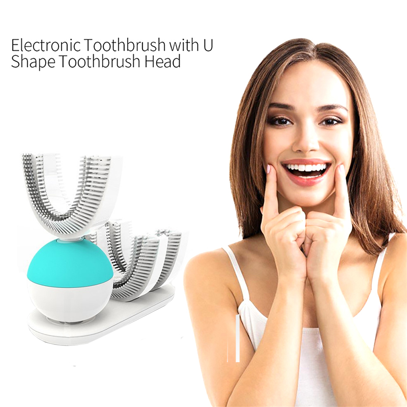 Sonic electric toothbrush automatic toothbrush 360 degree U shape Ultrasound USB Ring wireless toothbrush Clean teeth whitening image
