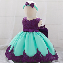 2020 Summer big bow flower girl dress newborn baby