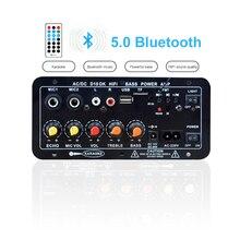Amplifier-Board Karaoke Bluetooth 8-12inch-Speaker for Subwoofer Dual-Microphone Stereo